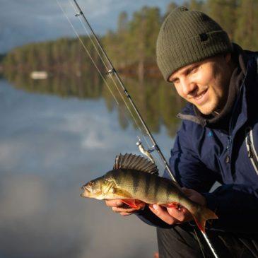 Ahvenen kalastusta Kevättijärvellä