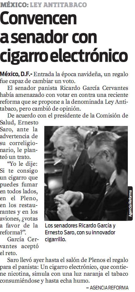 Los Senadores Ricardo García y Ernesto Saro Vapeando en el Senado de la República