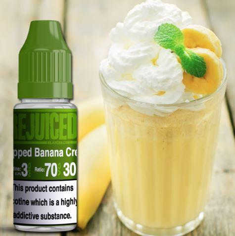 REJUICED Whipped Banana Cream 10ml E-Liquid – 50% off – £1.25