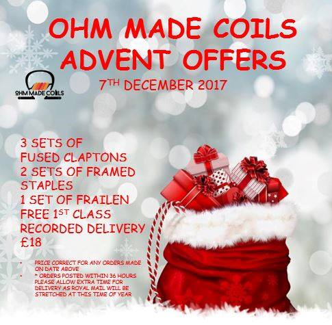 Ohm Made Coils Advent Calendar