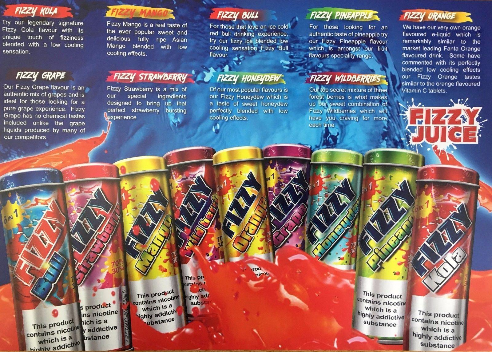 Fizzy Juice 60ml (6x10ml) – £11.40 at Vape Potions