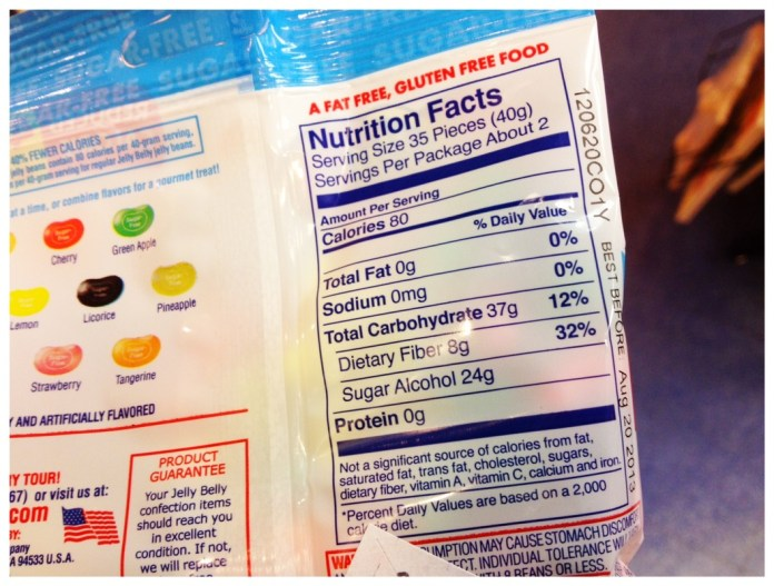 Jelly Bean Nutritional Info