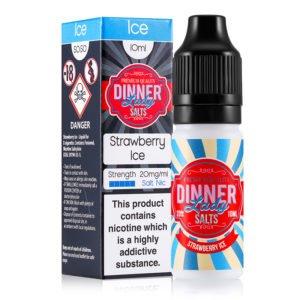 Strawberry Ice 10ml Nicotine Salt Eliquid By Dinner Lady Salts