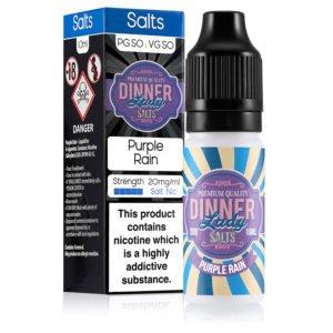 Purple Rain 10ml Nicotine Salt Eliquid By Dinner Lady Salts
