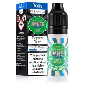 Tropical Fruits 10ml Nicotine Salt Eliquid By Dinner Lady Salts