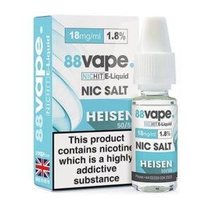 88vape Heisen Nicotine Salt Eliquid Bottle With Box
