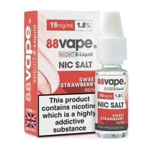 Sweet Strawberry Nicotine Salt E-liquid By 88vape