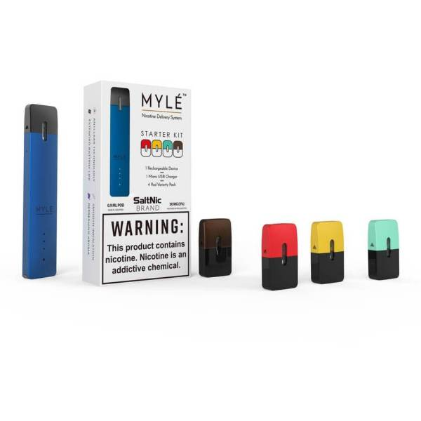 Mylé V4 Pod Kit 240mAh with Four Flavors Pods Available Now UAE