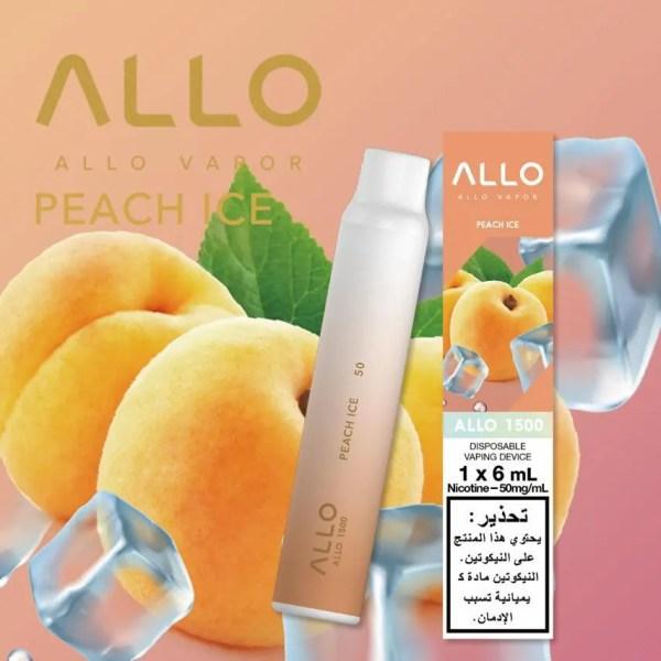 ALLO DISPOSABLE VAPE (1500 PUFFS) Peach Ice