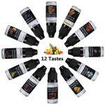 Joylink E-Liquide, 12 X10ml Vape Ejuice Liquide 70VG/30PG Vape E Liquide Cigarette Fabricant d'E-liquide Professionnel Electronique Premium E Cig Vape E Liquide E-Cigarette Vape Ejuice No Nicotine