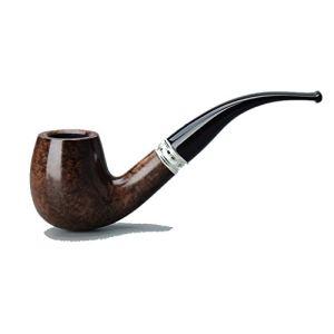 WEIFAN-pipe Tuyau de Tabac en coude Brillant en Bois de bruyère Raccords applicables No.17 Filet de Soutien à la Combustion (Non Inclus, fourni en Propre) / Noyau de Filtre de 9 mm