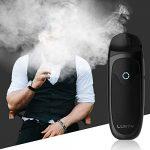 cigarette electronique, E-Cigarettes Aio Complet 2 pièces Resistance,Système de Pod rechargeable,Batterie rechargeable intégrée 1000mah,cigarette electronique kit.(No E LiquidNo Nicotine) (Noir)