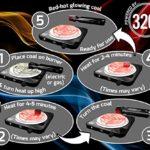 Lot de 288charbons en noix de coco 320° 4kg (cube de 25mm) pour narguilé et barbecue