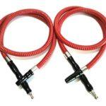 Soria.Premium narguilé Chicha 2 sorties 2 tuyaux 28 cm rouge