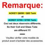 Atomiseur Cigarettes électroniques, Resistance (GT 0,3/ GT0,6oHm Coil), Top Airflow Hole Top Recharge Atomiseur Sub Ohm Tank 2ml, sans Liquide sans Nicotine – AOKEY GT65/ GT85 Tank