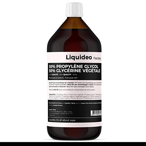 Vitavap' – Base Eliquide extra pure 1 litre de Liquidéo DIY – PG/VG 50-50 – Sans tabac ni nicotine