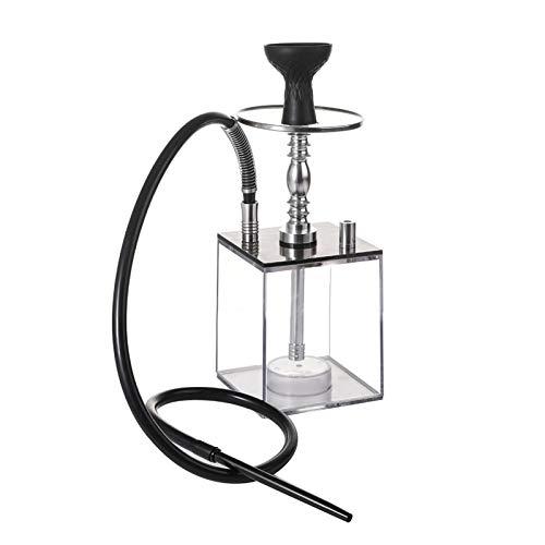 YTG Transparent Hookah Shisha avec HookahBowl Silicone LED Light Pipe Smoking Narguile Sheesha Chicha Acrylique Set Shisha (Color : Black)