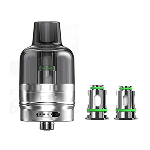 Vitavap' – Clearomiseur GTL tank Eleaf 4,5 ML + 2 résistances – couleur Silver – Sans nicotine ni tabac