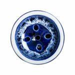 ORACLE HOOKAH® Tête de narguilé – En argile de qualité supérieure – Pour narguilé et narguilé (bleu foncé)