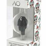 AO® Chicha Récupérateur de mélasse en verre SKULL   En forme de tête de mort   Cut 18.8   Pré-Refroidisseur Narguilé (Noir)
