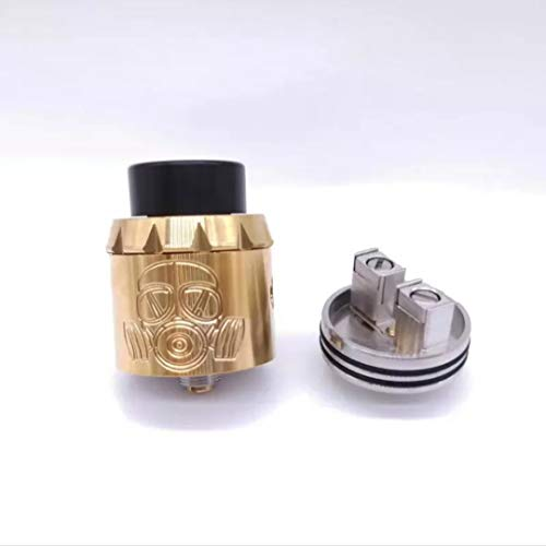RDA GEN 2 Apocalypse, Dripping Atomiseur Dual Coil, Trou d'air réglable, Sans Nicotine Ni Tabac, Multicolore (OR)
