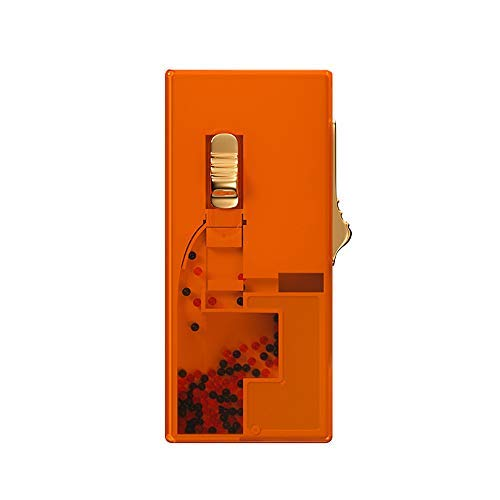 Distributeur de Capsules de Cigarette DIY Explosion Beads Filtre à Cigarette Autofill Box Crushball Applicator Bon pour les cigarettes Slim régulières de 100 (Orange)