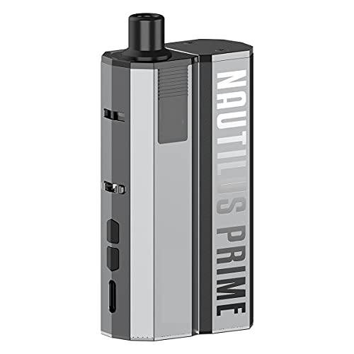 Kit d'origine Nautilus Prime (gris sidéral), système de pod AIO avec batterie 60 W / 2000 mah/cartouche de pod 2 ml, mode VV/Watt variable/dérivation, sans nicotine
