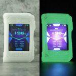 RUIYITECH Coque de protection en silicone pour Geekvape Aegis X Mod 200 W (brille dans le noir)