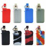 Voopoo Drag Max Kit étui de dispositif étui de protection pour cigarette électronique étui en silicone couverture bouclier peau , avec lanière (black red)