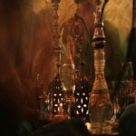 Brownah Set, Shisha, Creative Shisha Hookah Set .with Multicolore LED Light, Naviguement complet Set 2 Tuyau SHISHA KIT SMISHA – Comprend des accessoires Silver