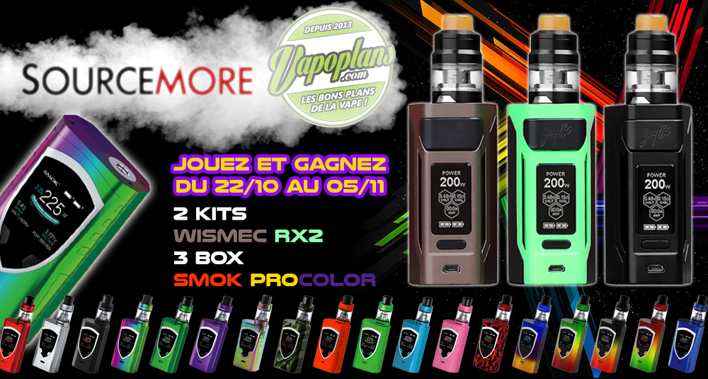 Grand Jeu Sourcemore & Vapoplans !