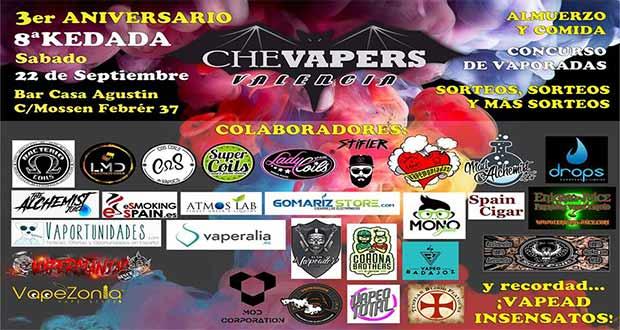 Kedada Che Vapers - 3º Aniversario