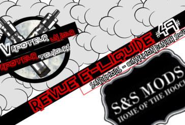 "E- נוזלי סקירה - קינמון דנית מערבולת על ידי S & S Mods - ארה""ב - #49"
