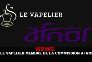 NEWS : Le vapelier membre de la commission AFNOR