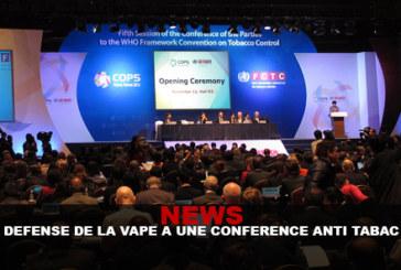 NEWS : La vape défendue a une conférence anti-tabac !
