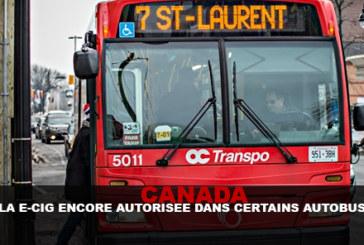 CANADA : La e-cig encore autorisée dans certains autobus !