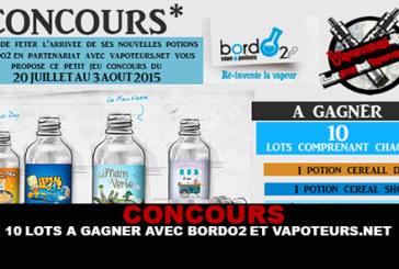 CONCOURS : 10 lots à gagner avec Bordo2 et Vapoteurs.net