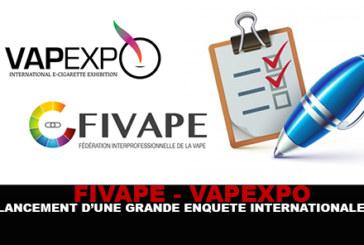 FIVAPE / VAPEXPO: השקת סקר בינלאומי חשוב!