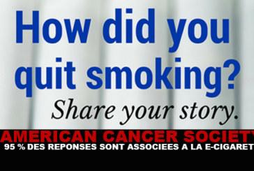ACS : 95% des réponses sont associées à la e-cigarette !