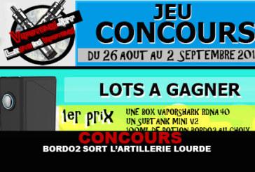 CONCOURS : BORDO2 sort l'artillerie lourde !