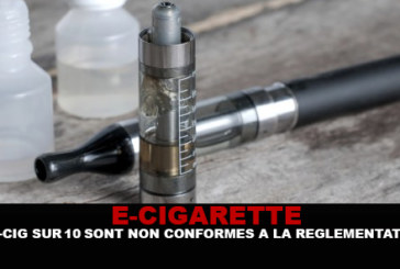 E-CIG: According to the DGCCRF, 9 e-cigarettes on 10 are non-compliant with the regulations!