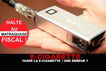 E-CIG : Taxer la e-cigarette ! Une erreur ?