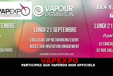 VAPEXPO : Participez aux vapéros non officiels !