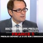 """צרפת 5: פיליפ פרסלים מגנה את e-cig על המופע """"C A Dire?"""" """""""