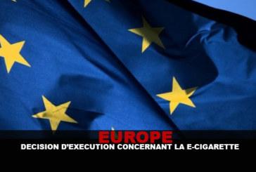 אירופה: החלטת הוצאה לפועל בנוגע לסיגריה האלקטרונית.