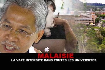 MALAISIE : La vape interdite dans toutes les universités publiques.