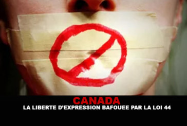 CANADA: Freedom of expression flouted by 44 law.