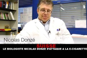 סוויצרלנד: הביולוג ניקולה דונזה תוקף את הסיגריה האלקטרונית.