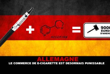 德国:电子烟贸易现在受到惩罚!
