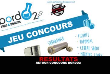 RESULTAT : Retour Concours Bordo2 !
